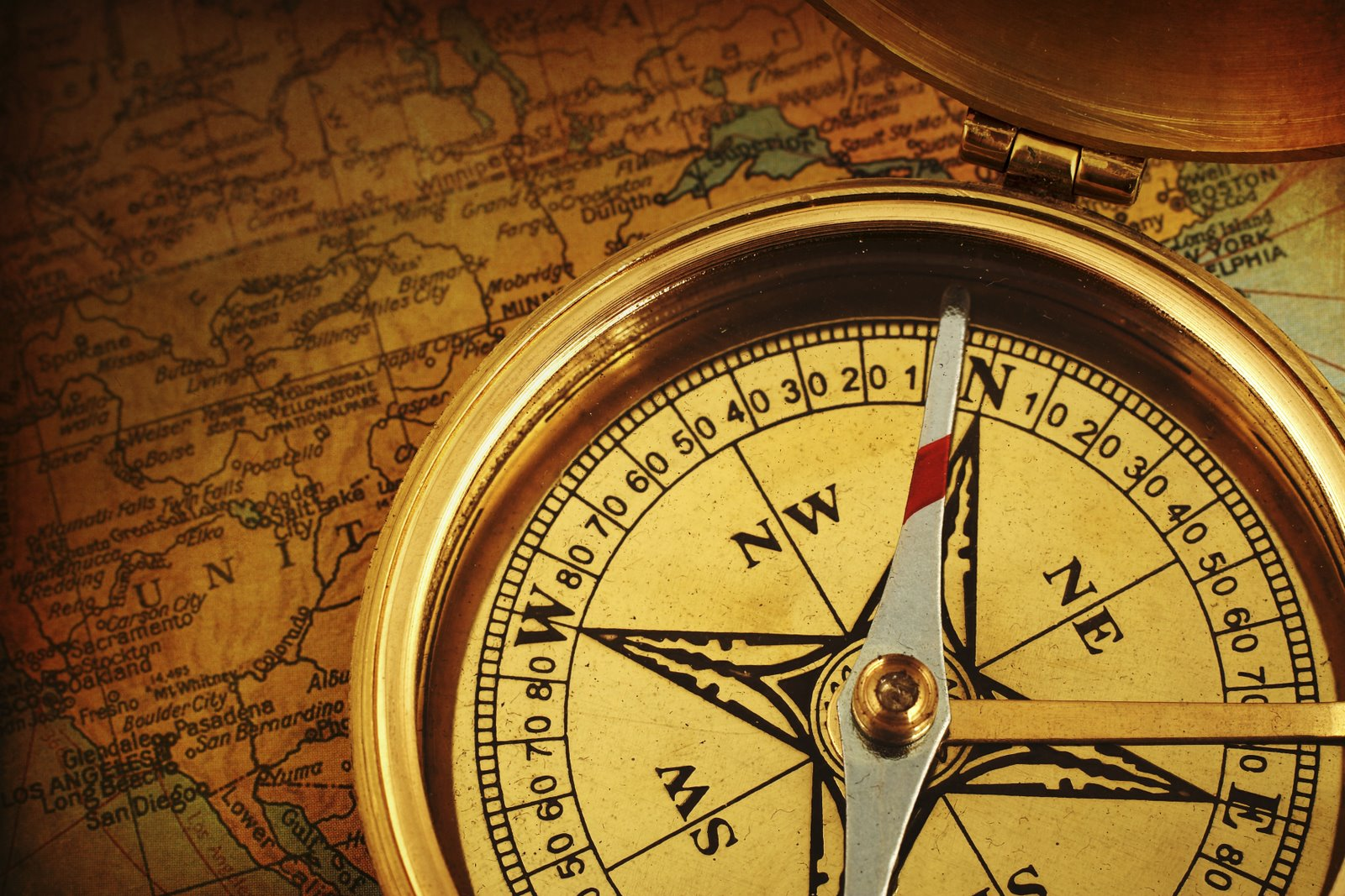 Learn to Point North and to read a compass